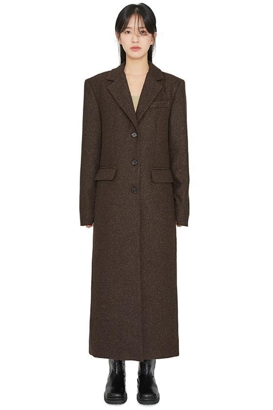 Shading straight single long coat