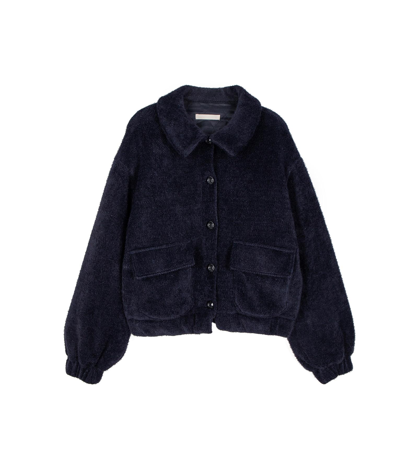 Teddy button shearling jacket