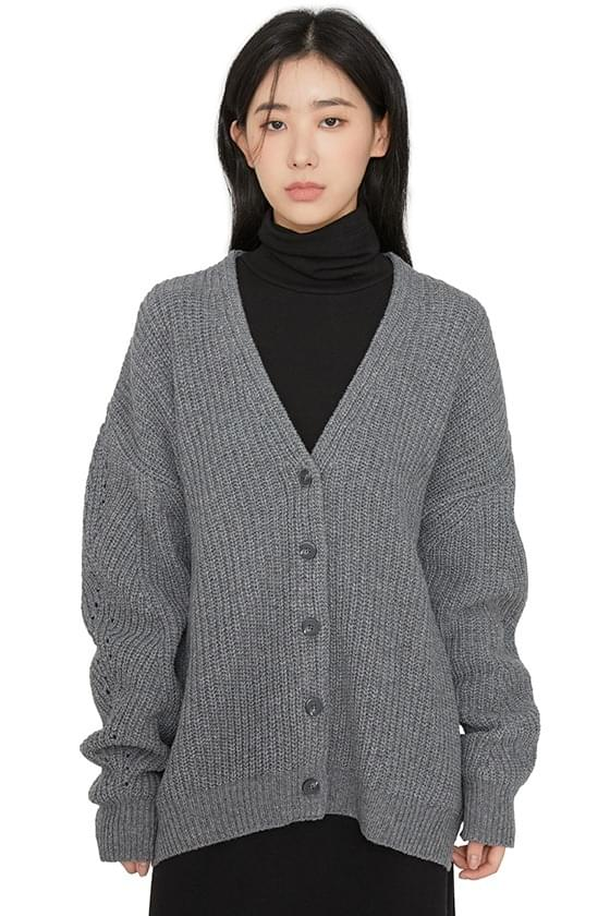 Bebe ribbed over-knit cardigan