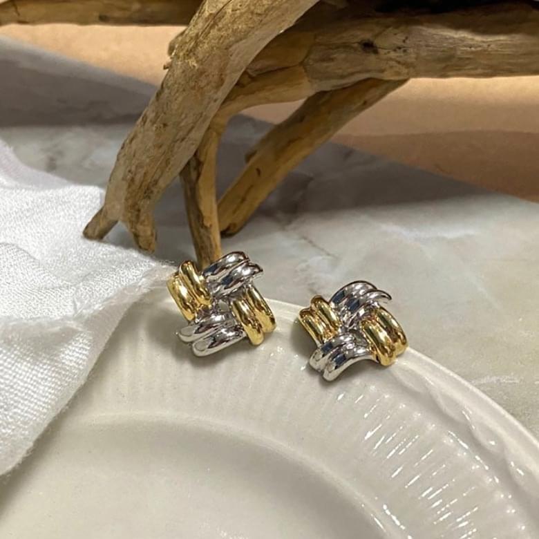 韓國空運 - Noi fine combination chain nickel-free needle earrings 耳環