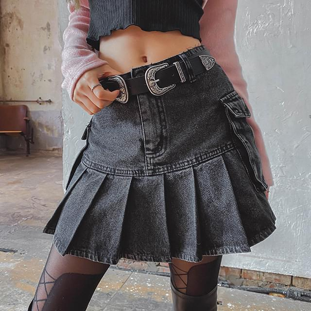 Frill Lad Denim skirt