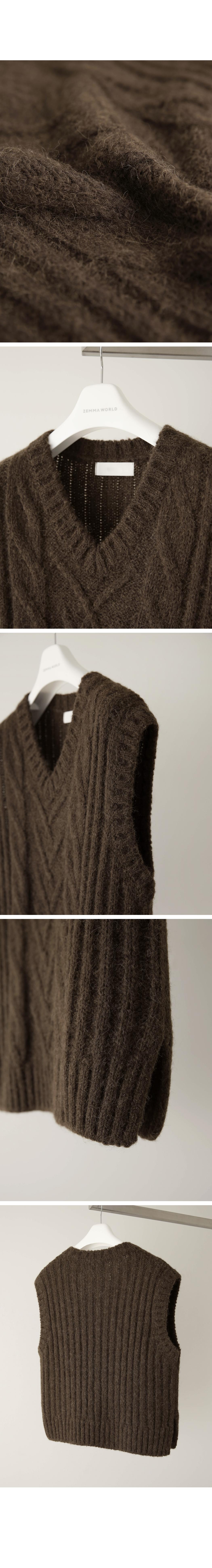 Alpaca Cable Knit Vest