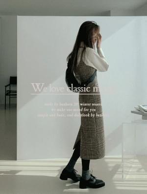 Beginner Check Wool Long Dress 洋裝