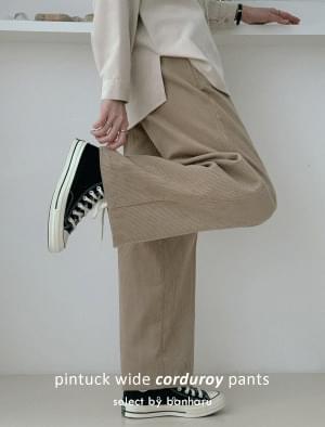 Chess pintuck wide corduroy pants 長褲