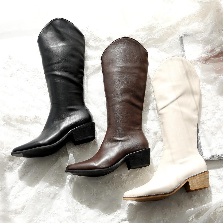 Hamer long boots 4cm 靴子