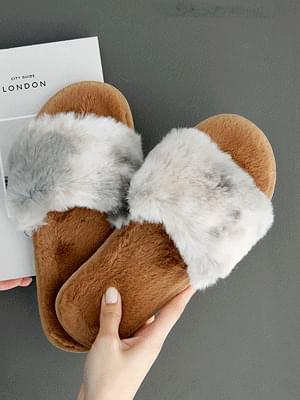 Soft Candy Fur Slippers 1cm 涼鞋