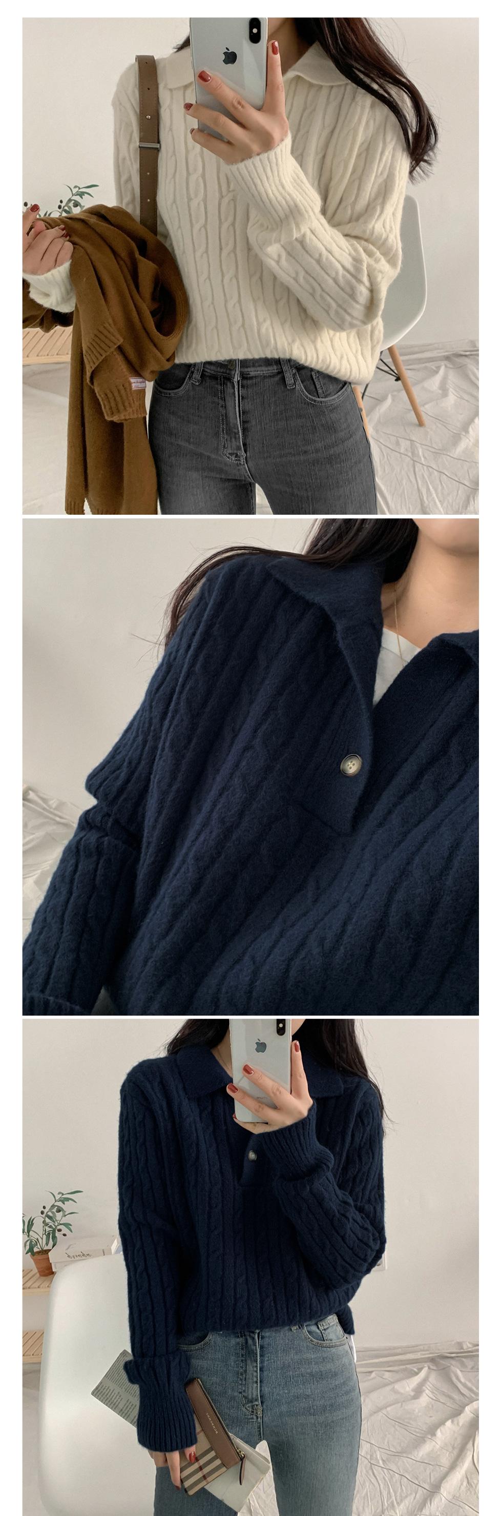 Volk Twisted Collar Knitwear