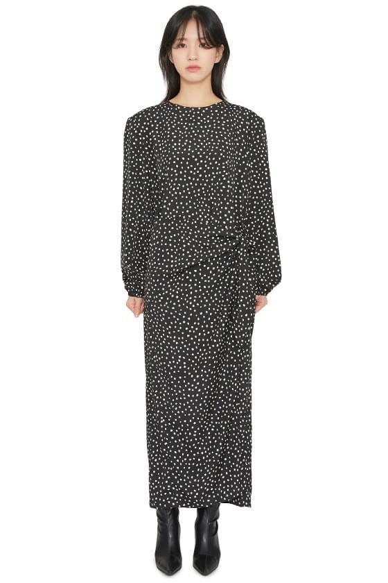 Butter dot wrap maxi dress 洋裝