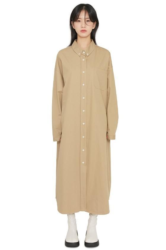 Dili shirt maxi dress 洋裝