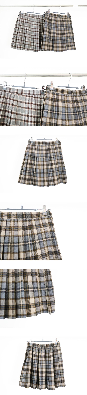 Croa pleated mini skirt(model wear grey)