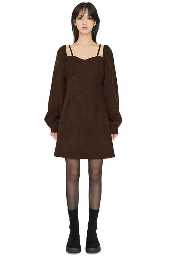 Alley square-neck mini dress 洋裝
