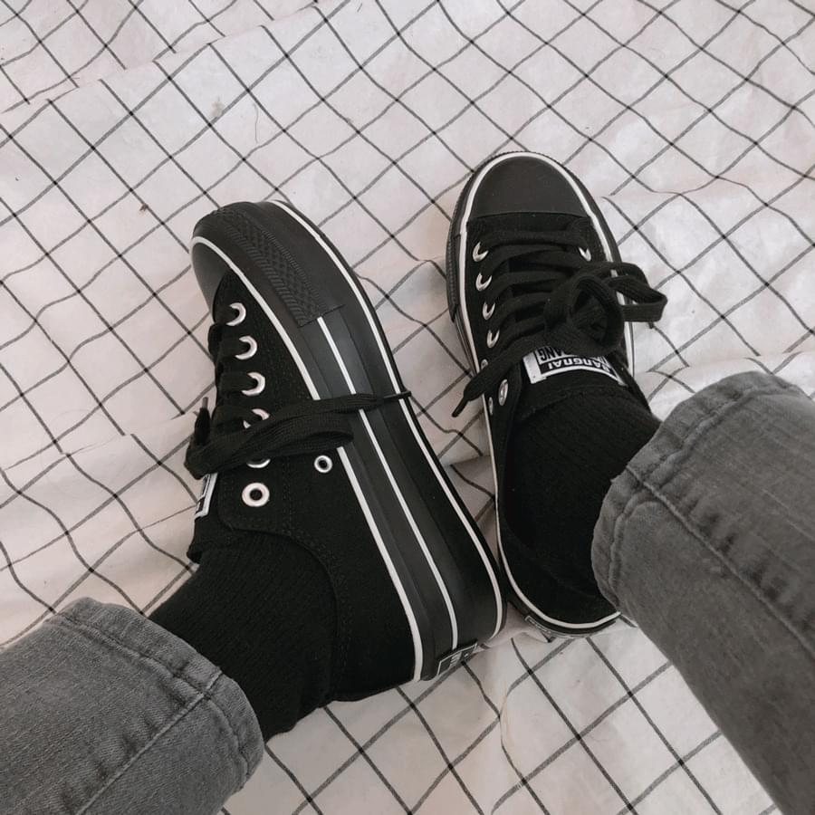 2198 6-neck full heel canvas painting 球鞋/布鞋