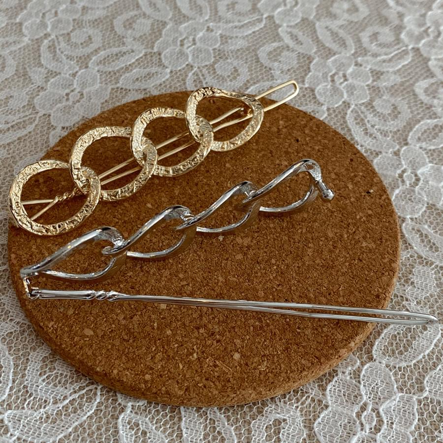 Bling chain hairpin 配飾