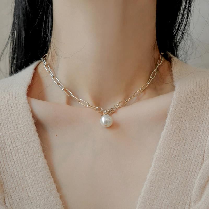 1054 Pearl Chain Collar Necklace 項鍊