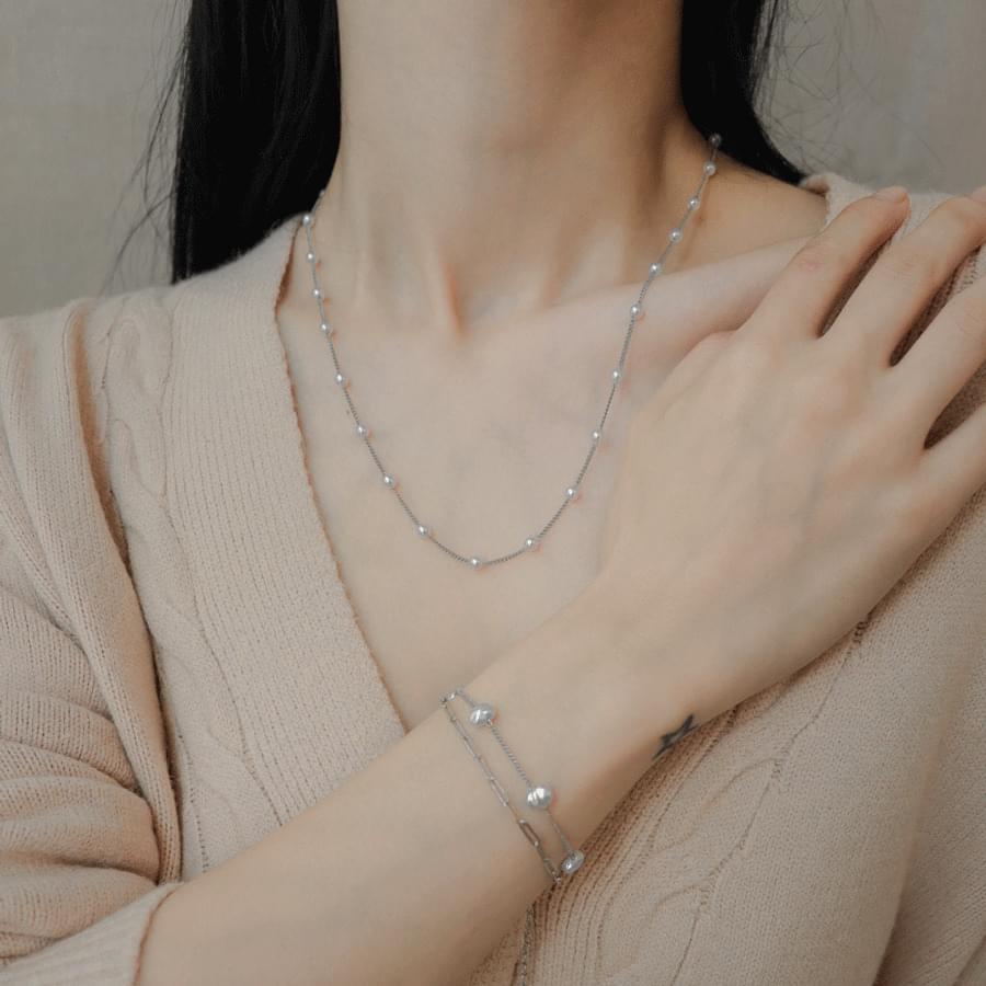 Melang Pearl Two-Line Bracelet 手鐲