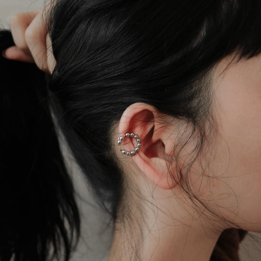 Two bowl line ear cuffs 耳環