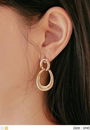 BION TWO CIRCLE DROP EARRING 耳環