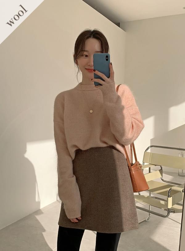 Herringbone mini sk 裙子