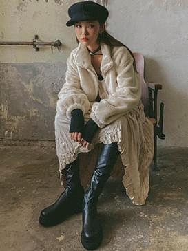 Cropped razor fur jacket 夾克外套