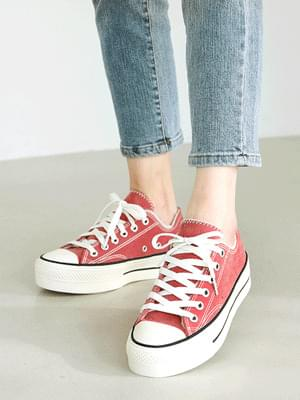 Cheev fur full-heeled sneakers 4cm 球鞋/布鞋