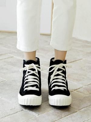 Ethel high-top corduroy sneakers 2cm 球鞋/布鞋