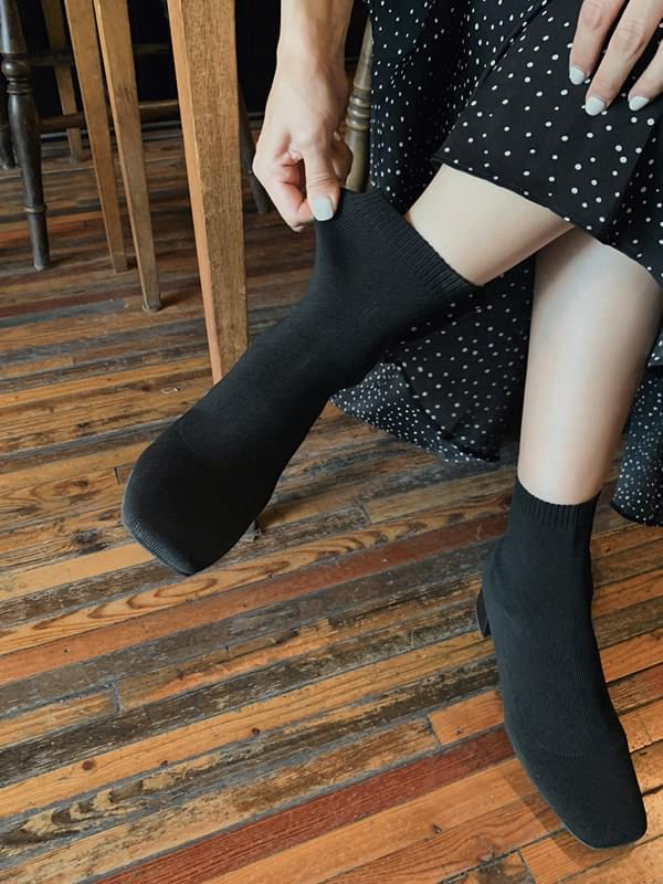 Knit Span Middle Sox Heel