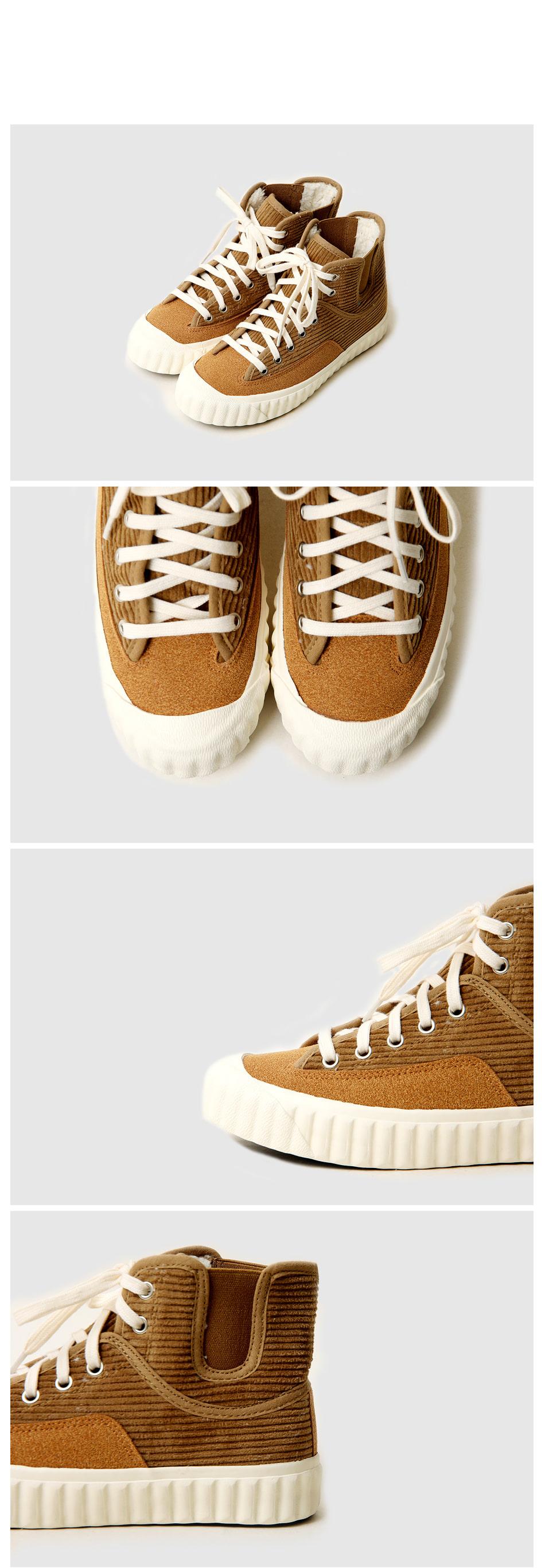 Ethel high-top corduroy sneakers 2cm