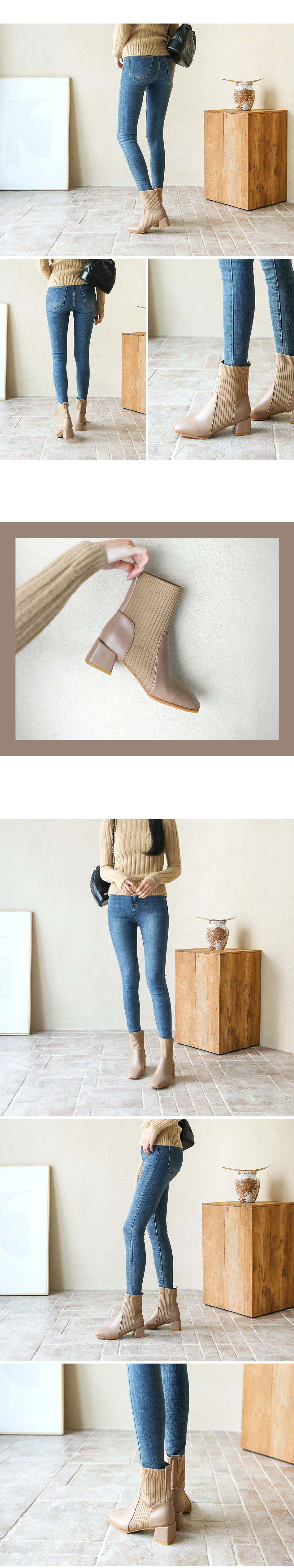 Tria socks ankle boots 5cm