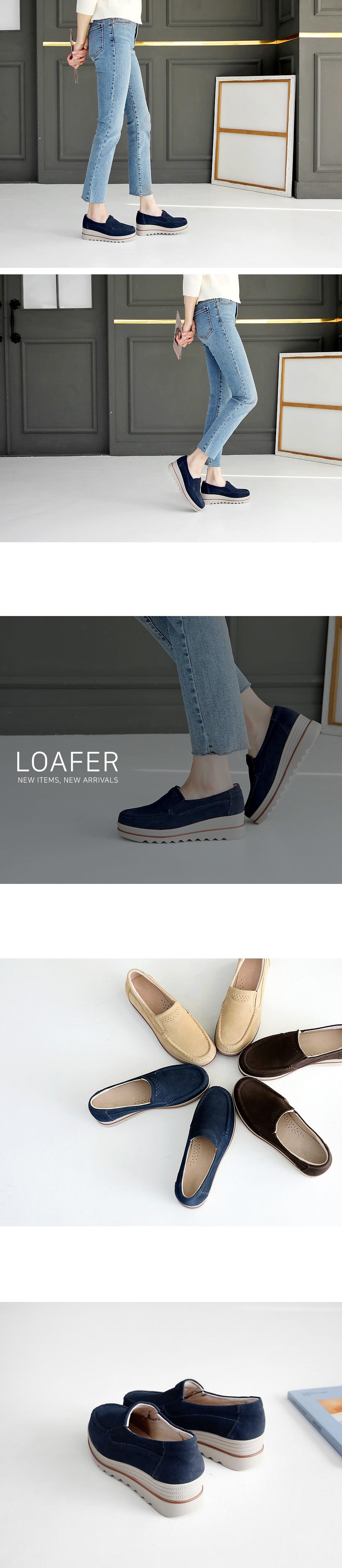 I like wedge full heel loafers 5cm
