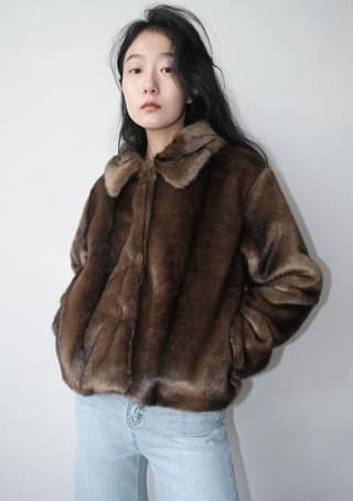 posh fake fur jacket (2colors)
