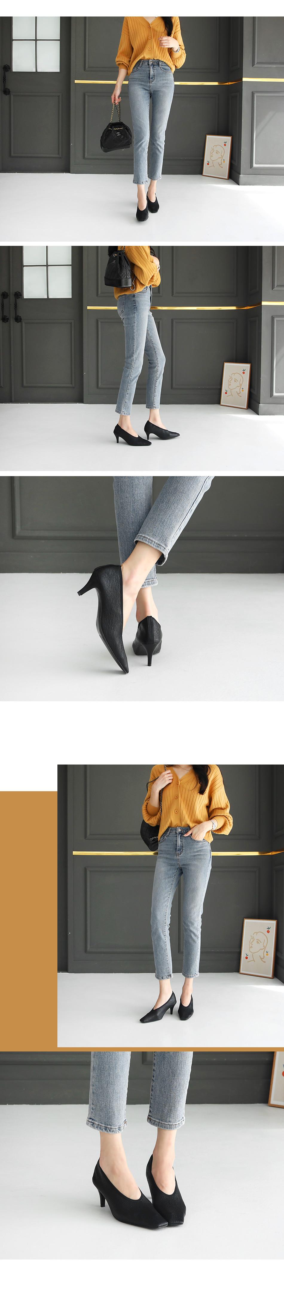 Lupets Banding Middle Heel Pumps 6cm