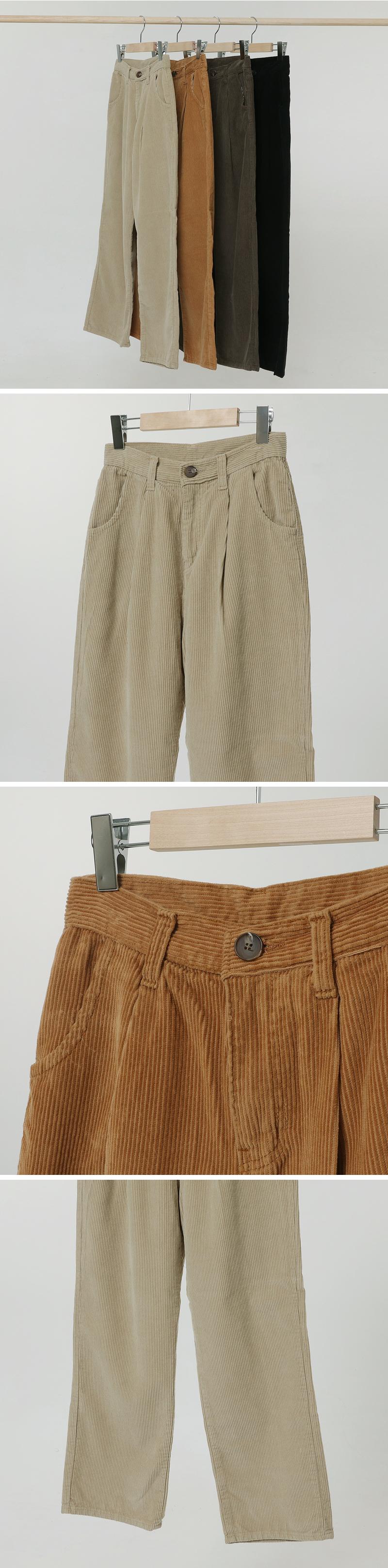 Mandy corduroy pintuck wide pants