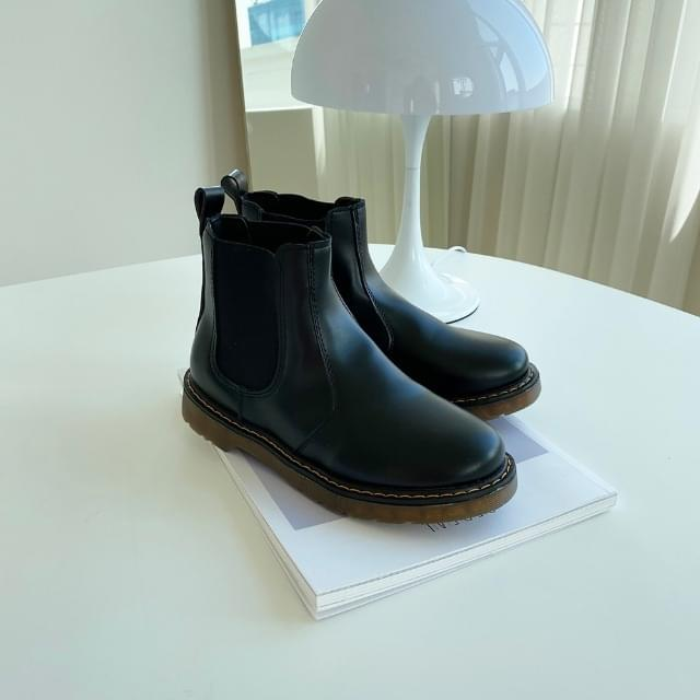 Round Chelsea Ankle Boots 2.5cm