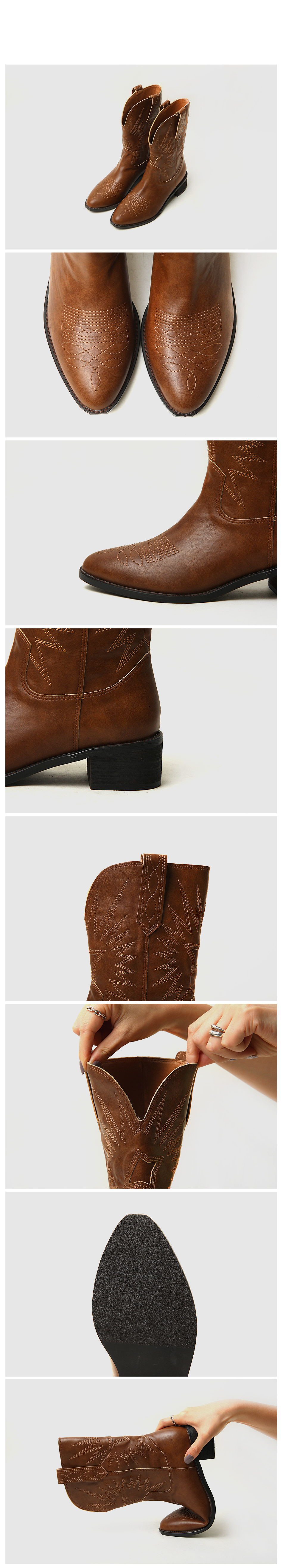 Ovez Western Middle Boots 4cm