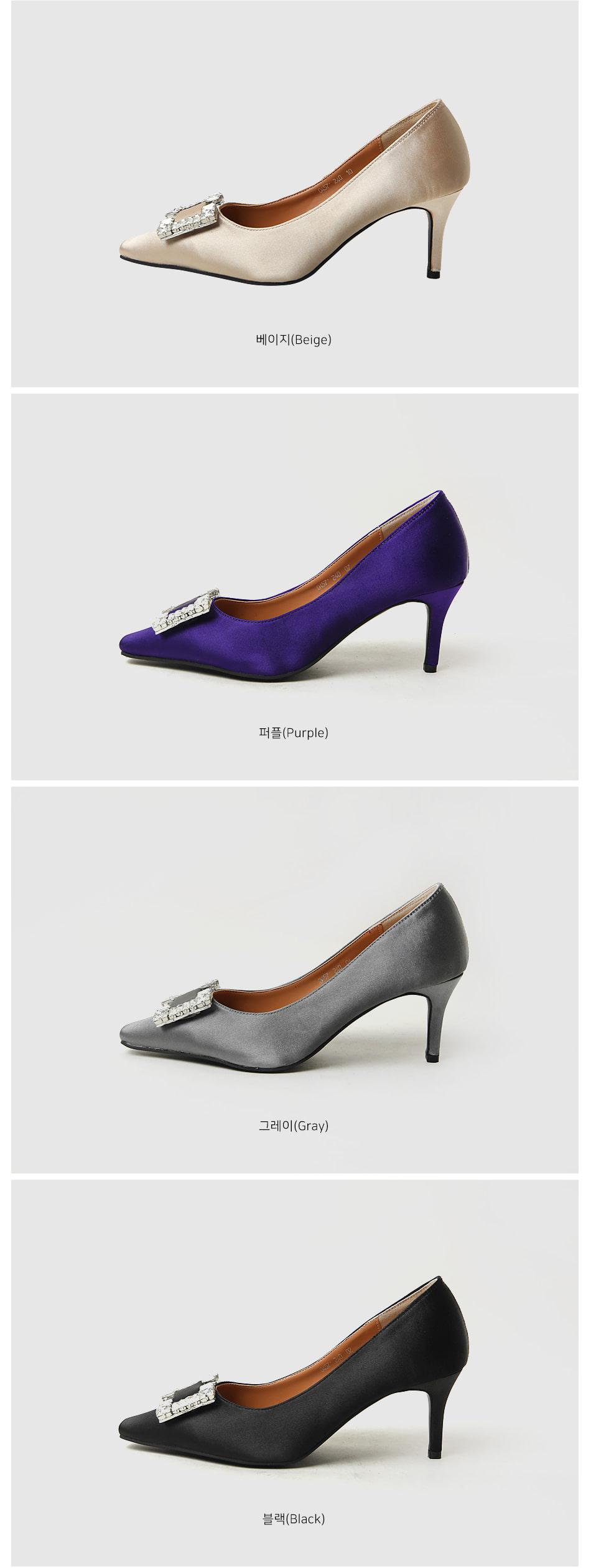 Piles Middle Heel Pumps 6cm