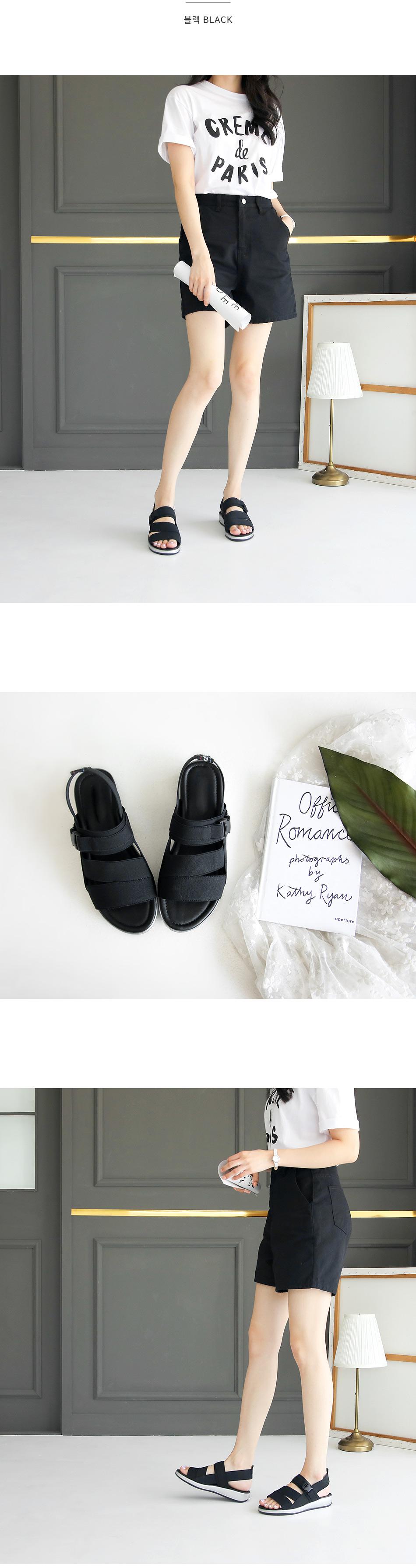 Sweet slingback banding sandals 3cm