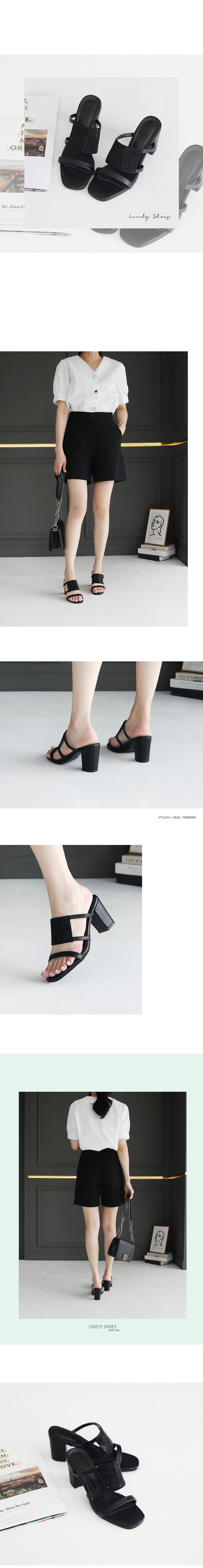 Odinz Mule Slippers 7cm