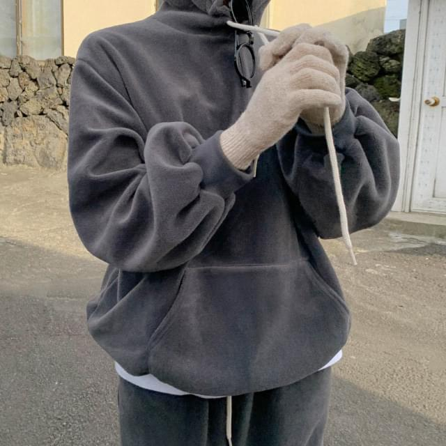 Bubble soft fleece hoodie