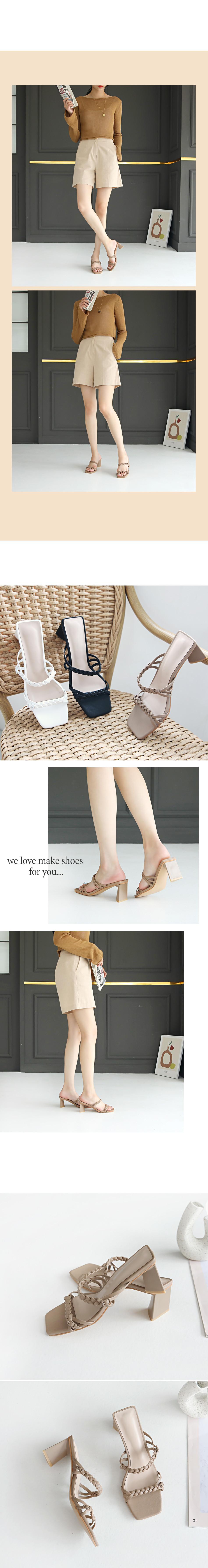 Aretz Mule Slippers 6cm