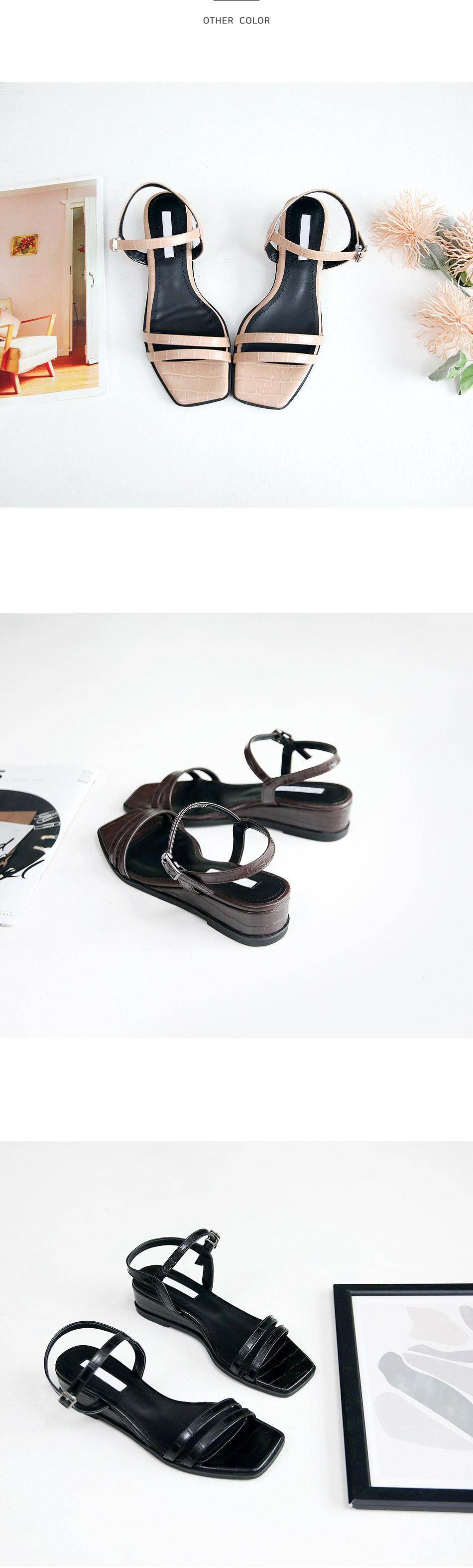 Eloti Wedge Slingback Sandals 3cm