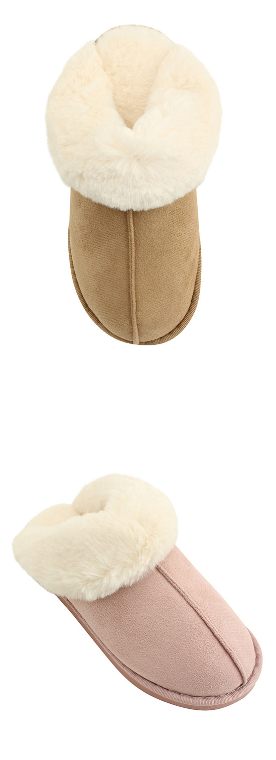 Fleece slippers beige