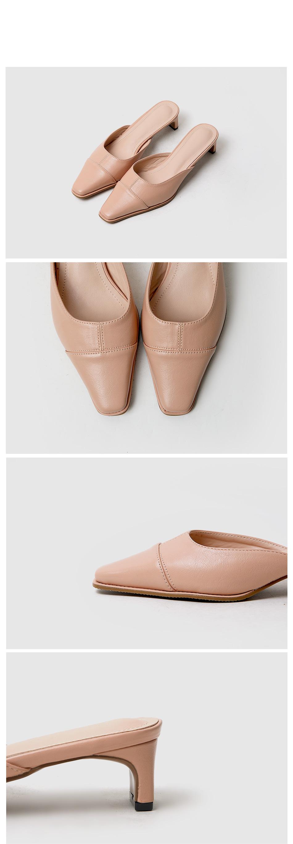 Clemen Mule Slippers 4cm