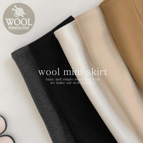 Fabric Wool Skirt