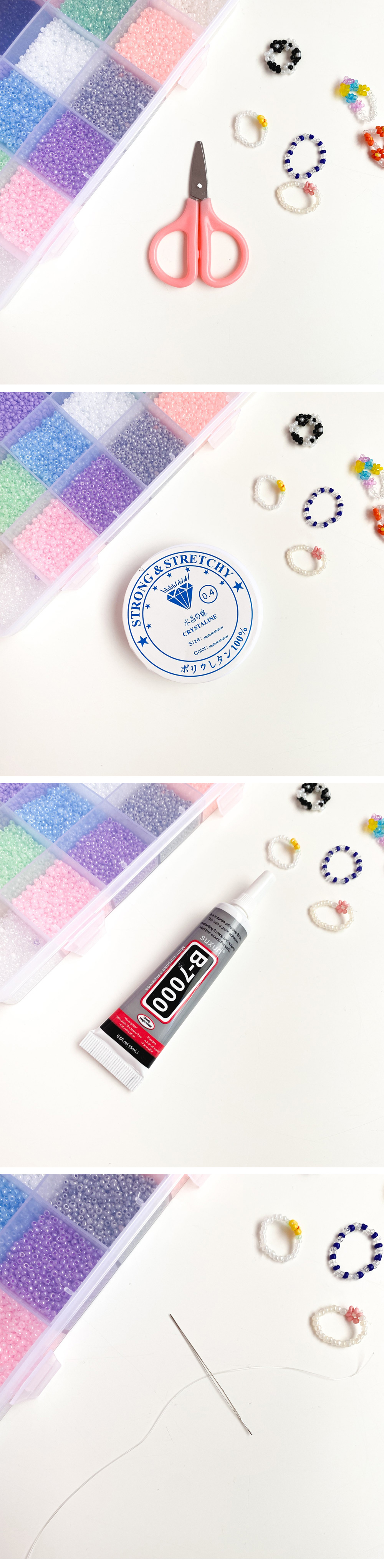 Bead Ring Mask Band DIY Making Kit Set 24color