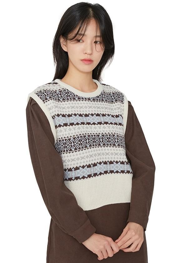 Jacquard knit vest 針織衫