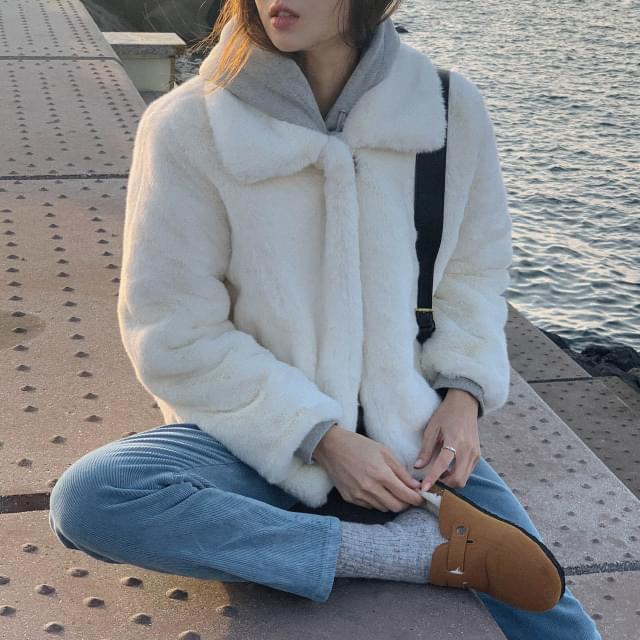 Milan soft texture fur jacket