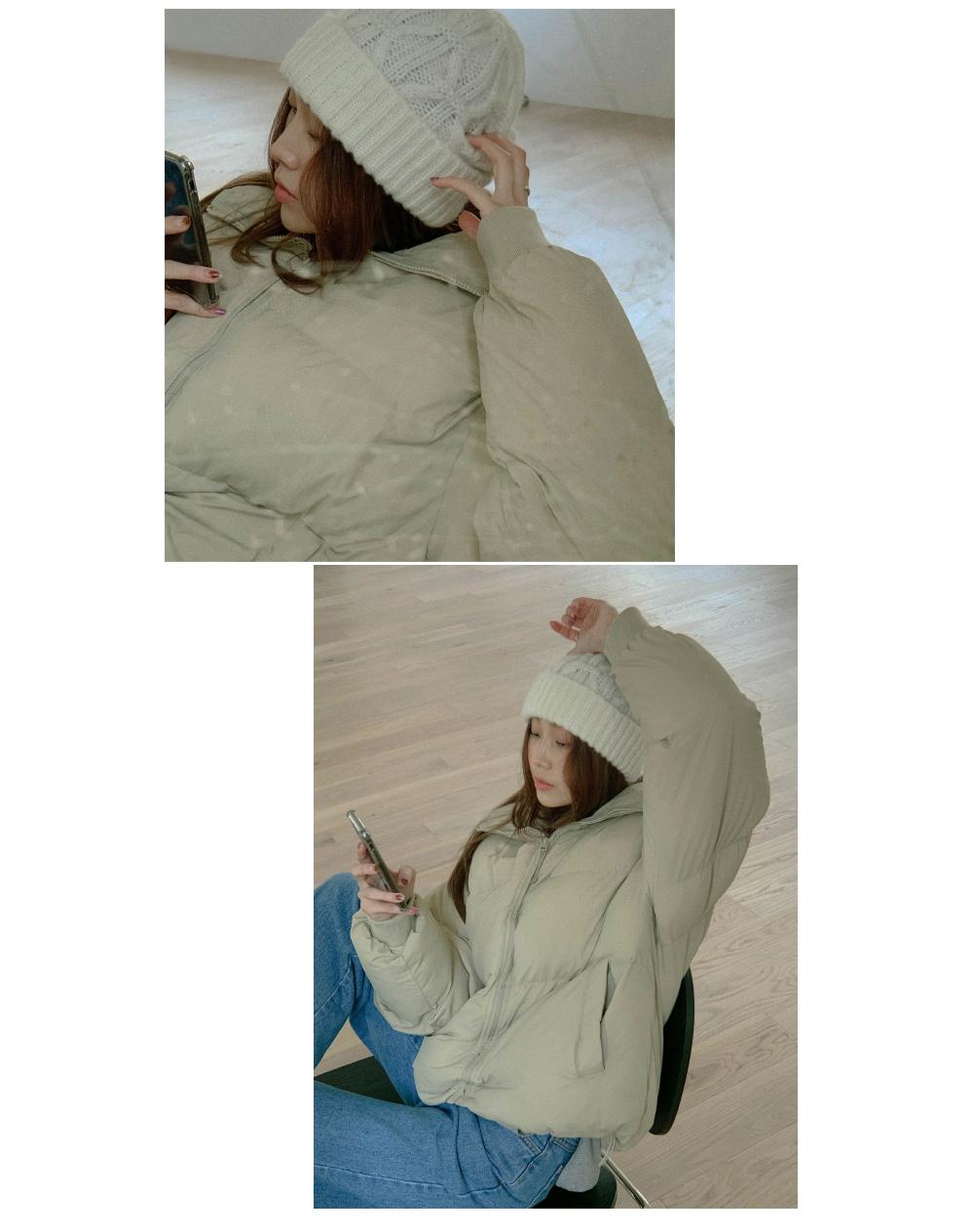 Fergie High Neck String Wellon Padded Jacket
