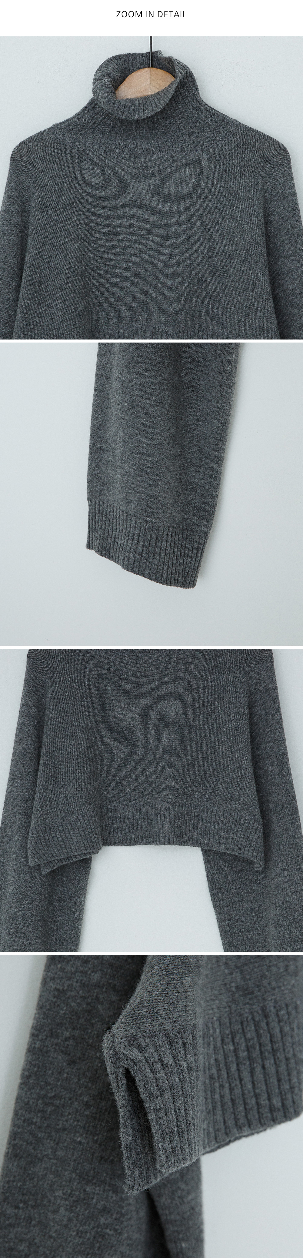 Viva turtleneck crop wool knit