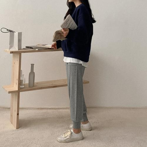 Pintuck Pocket Jogger Knit Pants