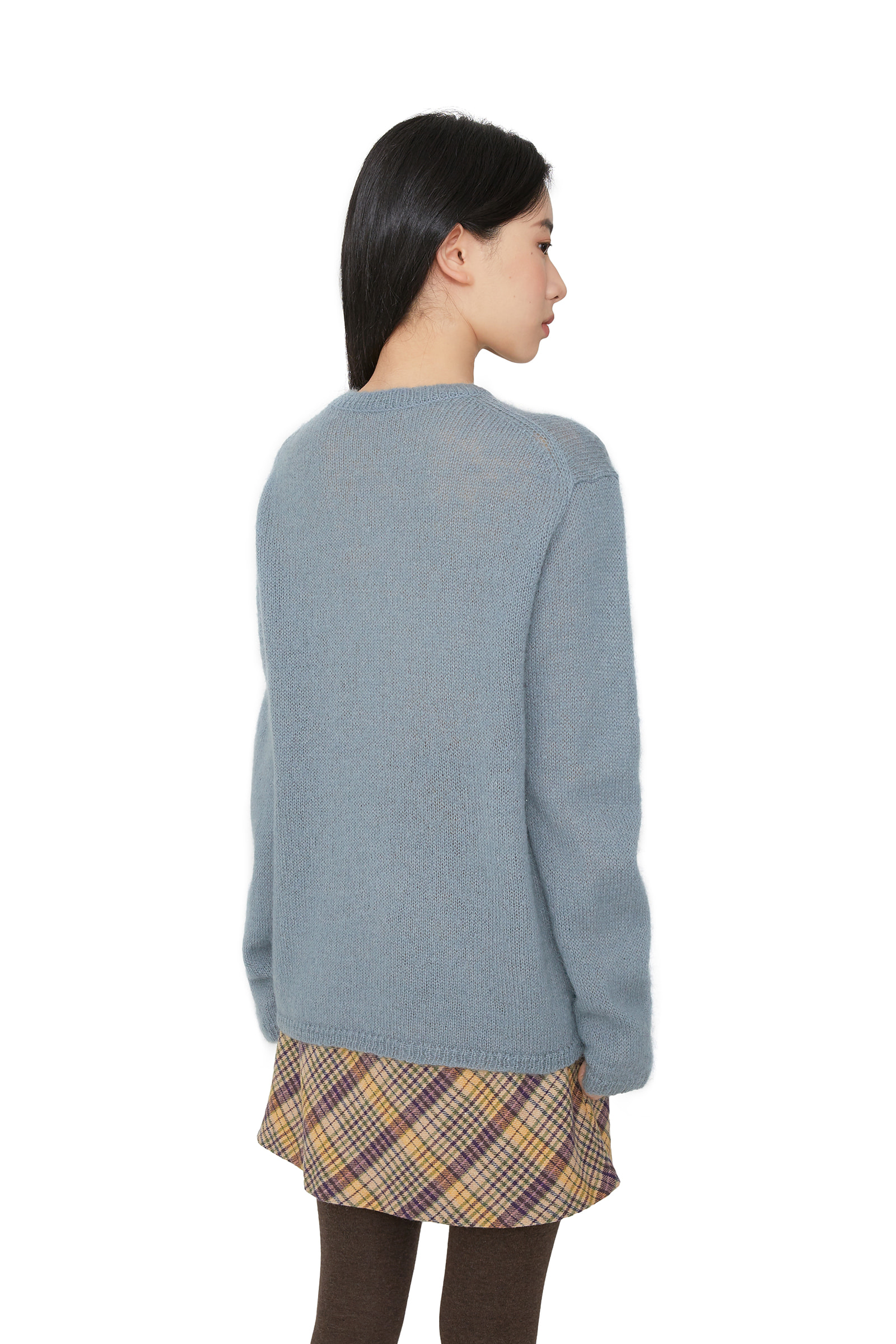 Bubble Merino Wool Crew Neck Knit